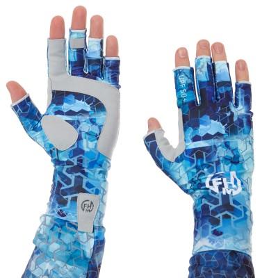 FHM Mark UV Protection žvejybos pirštinės Print Blue