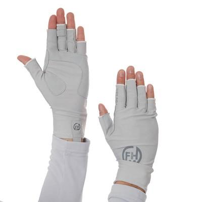 FHM Mark UV Protection žvejybos pirštinės Light Grey